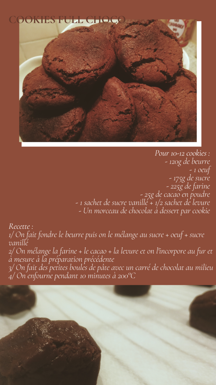 Recette Express Cookies Full Choco