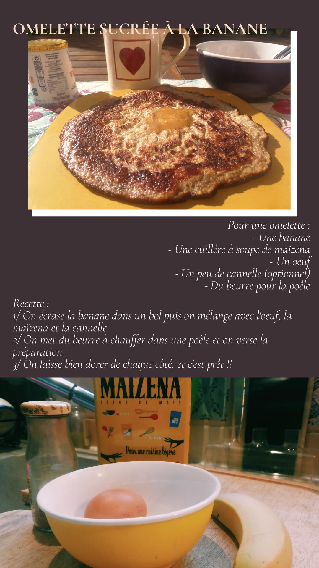 Recette Express Omelette sucrée à la banane